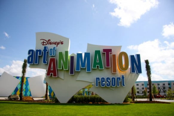 Florida, Fall 2013 - 25 days, 10 theme parks, Sun, Fun & More Disneys-art-of-animation-resort-exterior-logo