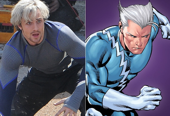 Aaron Taylor Johnson(Quicksilver) from Avengers 2, Set ...