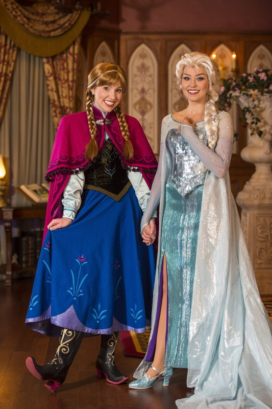 meet and greet elsa anna princess fairytale hall