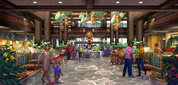 disneys polynesian village resort lobby