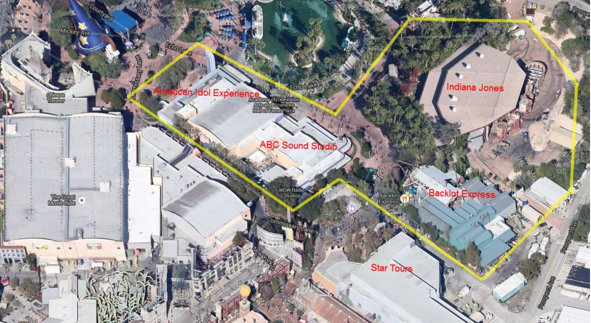 Aerial View of Potential Star Wars Land at Disney's