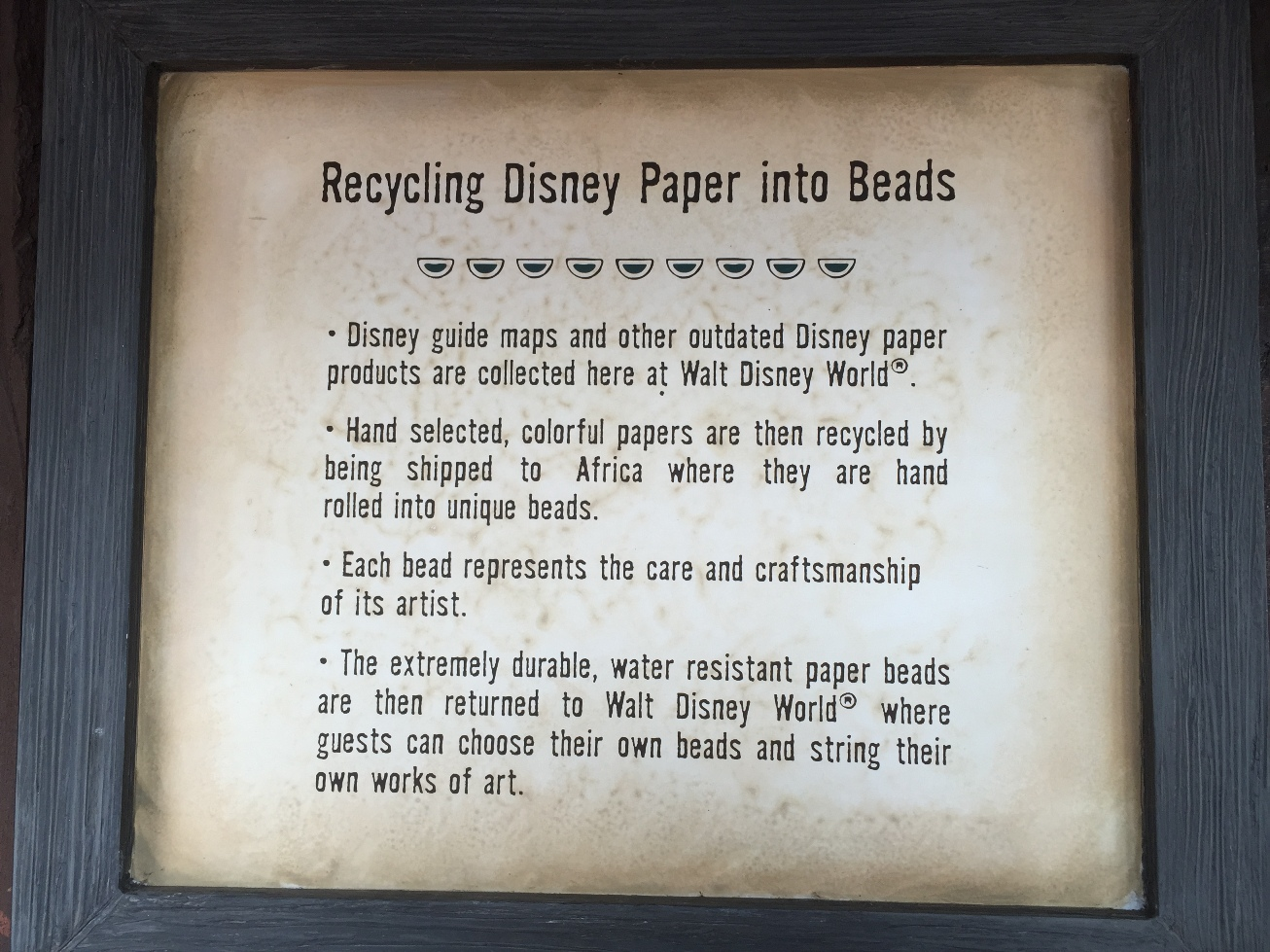 Epcot Park Map Bead Station (2) | WDW Daily News