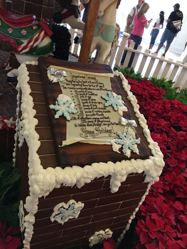 WDW Christmas Beach Club Gingerbread Carousel (7)