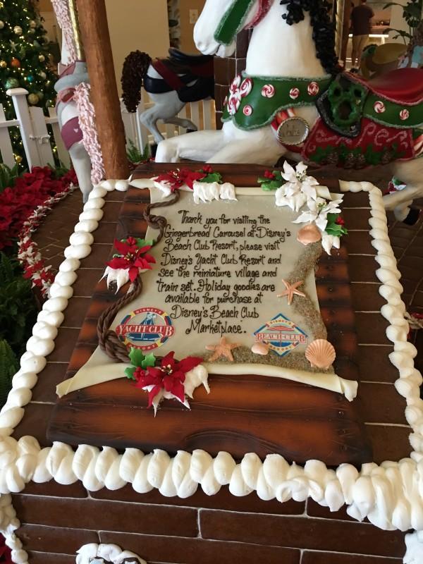 WDW Christmas Beach Club Gingerbread Carousel