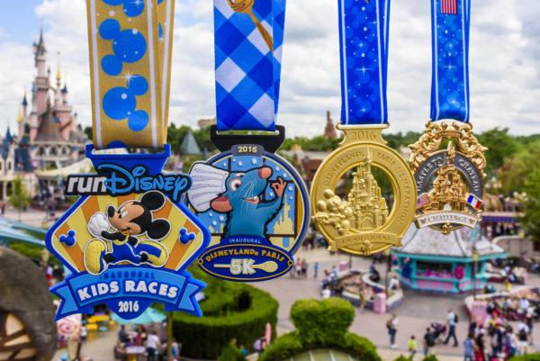 (July 21, 2016): The inagural Disneyland Paris Half Marathon Weekend medals are revealed. Disneyland Paris Half Marathon Weekend will be the first international runDisney race weekend, taking place Sept. 23-25, 2016.