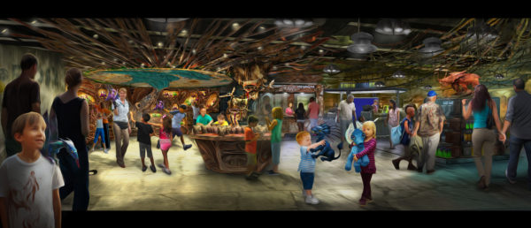 Opening in summer 2017 at Disney's Animal Kingdom, Pandora-The World of Avatar will bring a variety of new experiences to the park, including a family-friendly attraction called NaÕvi River Journey and new food & beverage and merchandise locations. Windtraders, (pictured here) travelers can find NaÕvi cultural items, toys, science kits, and more.DisneyÕs Animal Kingdom is one of four theme parks at Walt Disney World Resort in Lake Buena Vista, Fla. (David Roark, photographer)